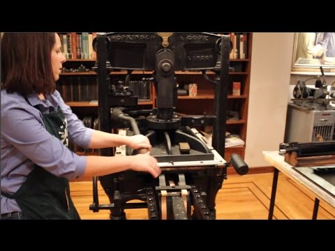 Printing using the Kelmscott/Goudy Albion Iron Hand Press