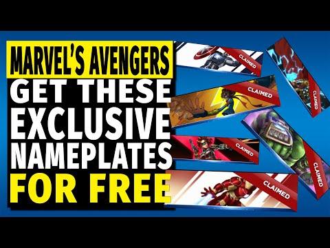 Marvel's Avengers Nameplates   How To Unlock 6 New, Free & Exclusive Bonuses
