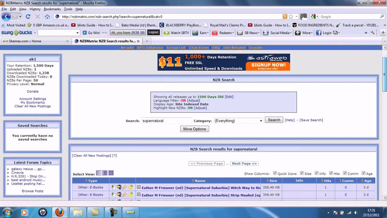 Grabit Free Usenet Tutorial HD How To Download Fast NZB's Completely Free  2MBPS!!