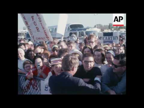 Robert Kennedy campaigns in South Dakota