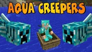 creepers acuticos   aqua creeper mod   minecraft mod review