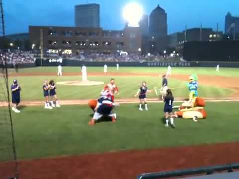 Columbus Clippers Hot Dog Race w/ Jerry The King Lawler