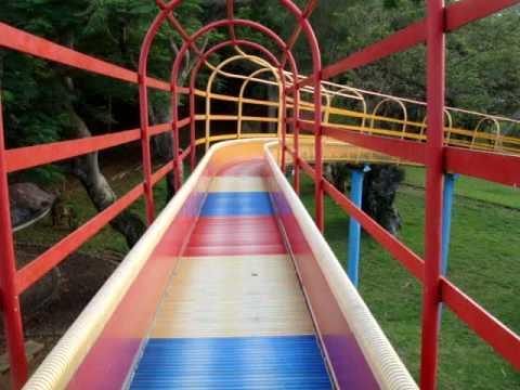 Going Down The Roller Slide
