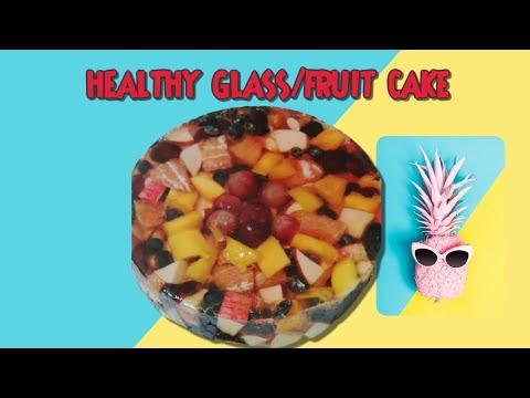 Fruit JELLY CAKE|Glass cake Tutorial |How to make glass cake or fruit cake