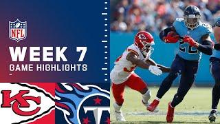 Chiefs vs. Titans Week 7 Highlights | NFL 2021