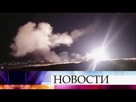 Сирийские ПВО отразили ракетную атаку Израиля на пригороды Дамаска.