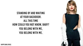 Download lagu YOU BELONG WITH ME - TAYLOR SWIFT