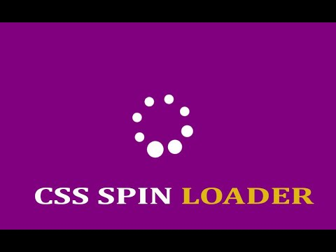 CSS Spin Loader With HTML And CSS