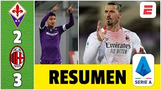 Fiorentina 2-3 AC Milan. ¡Partido de infarto! Golazos de Zlatan, Díaz, Ribery y Pulgar | Serie A