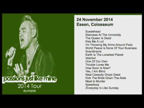 MORRISSEY - November 24, 2014 - Essen, Germany (Full Concert) LIVE