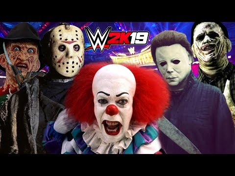 WWE 2K19 | MICHAEL MYERS, JASON VOORHEES, FREDDY KRUEGER, PENNYWISE, LEATHERFACE