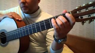 Как играть на гитаре В.Цой-Апрель Аккорды,концовка