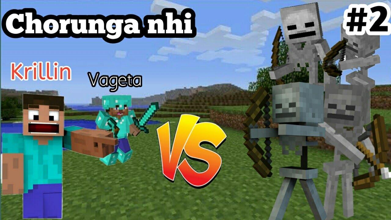 Download MINECRAFT | Krillin,Vageta vs skeleton | Gaming Video ||AUZY!||