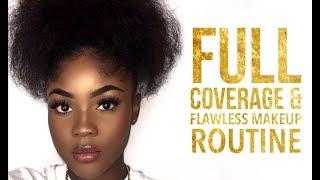FULL COVERAGE & FLAWLESS MAKEUP ROUTINE| KAISERCOBY