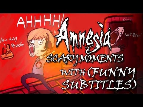 AMNESIA SCARY REACTIONS (and funny) moments with Subtitles! w/ PewDiePie EP3