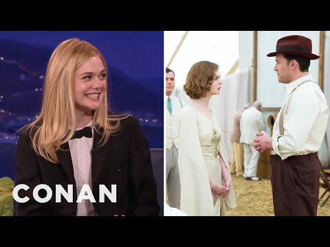 "Elle Fanning Had To Wear Period Undergarments In ""Live By Night""  - CONAN on TBS"
