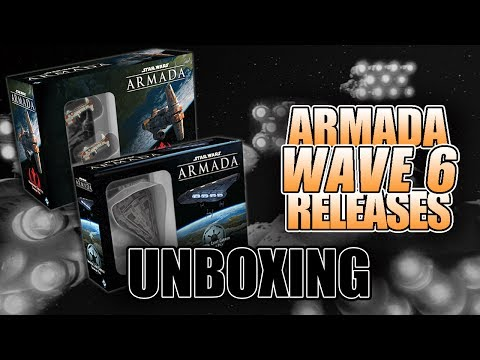 Wave 6 Imperial Carrier & Hammerhead Corvette UNBOXING Armada