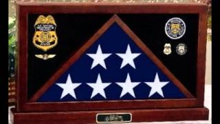 Flag Display Cases For Military Coffin, Casket Flag Display Cases