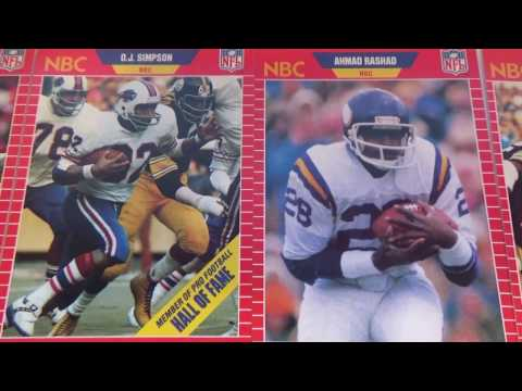 Some 1989 NFL Sports Announcer Cards