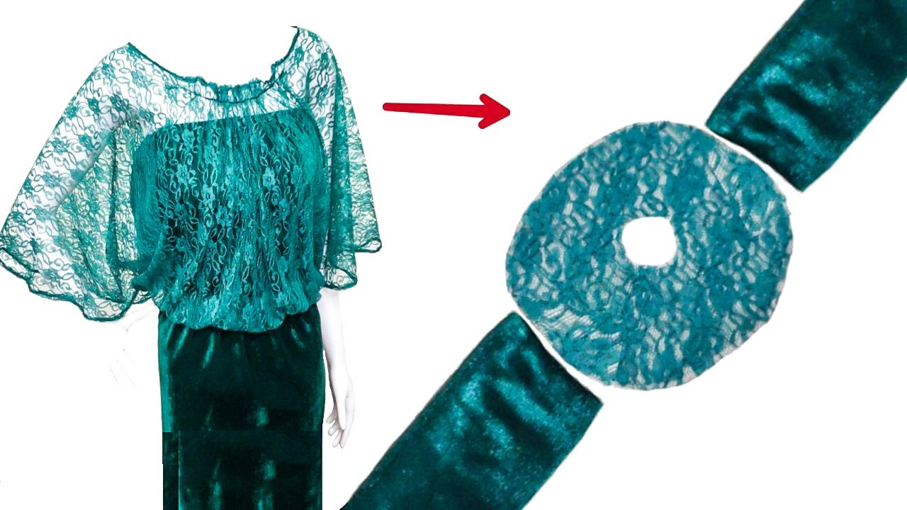 خياطة موديل فستان عصري رائع😍وسهل للمبتدئين👌