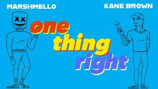 Marshmello x Kane Brown One Thing Right