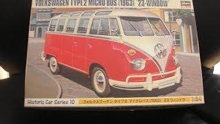 Unpacking Volkswagen Type 2 Micro Bus 1/24 Hasegawa