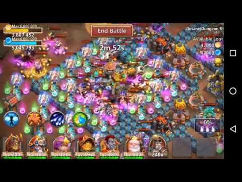 Insane Dungeon 5-6 With F2P