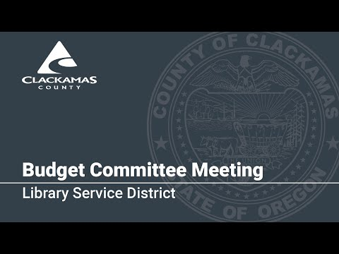 Call To Order & Library Services District Budget Presentation 2020
