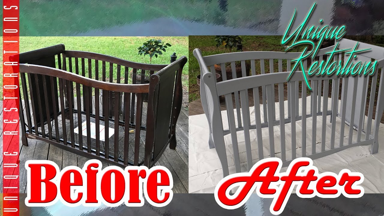Chalk Paint Diy Nursery Crib Painting Makeover On A Budget