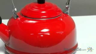 Le Creuset Classic 1.75-qt. Whistling Teakettle Flame - Product Review Video