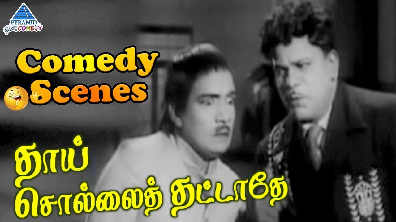 Thai Sollai Thattathe Tamil Movie Comedy Scenes | MGR | Saroja Devi | MR Radha | SA Ashokan