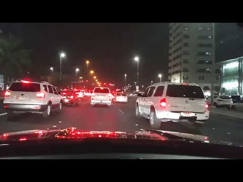 Night Driving in Abu Dhabi