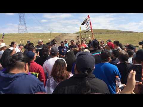 Dennis Banks speaking at Standing Rock, 9/3/16