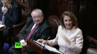 LIVE: US Speaker of the House Nancy Pelosi addresses the Irish parliament.