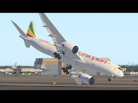 A350 Emergency Landing After Takeoff Due To Sick Pilots | X-Plane 11