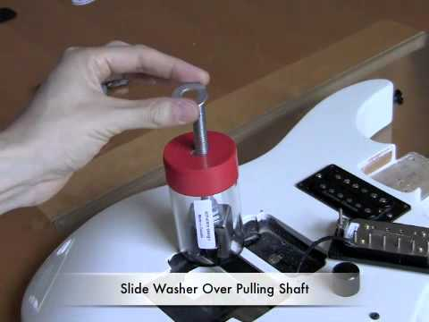 how to remove floyd rose tremolo mounting studs on an electric guitar by jalveste youtube. Black Bedroom Furniture Sets. Home Design Ideas