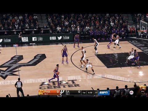 NBA LIVE 19 - Phoenix Suns vs San Antonio Spurs - Full Game - PS4 PRO - HD