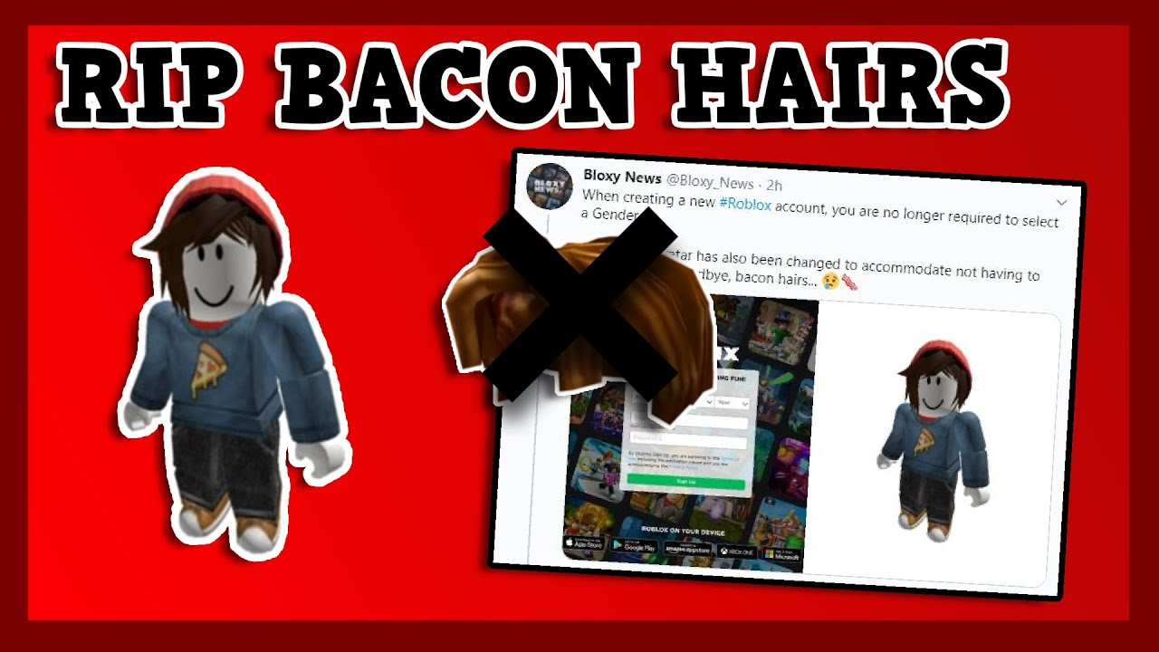 Roblox is REMOVING Bacon Hairs RIP Bacon Hairs YouTube
