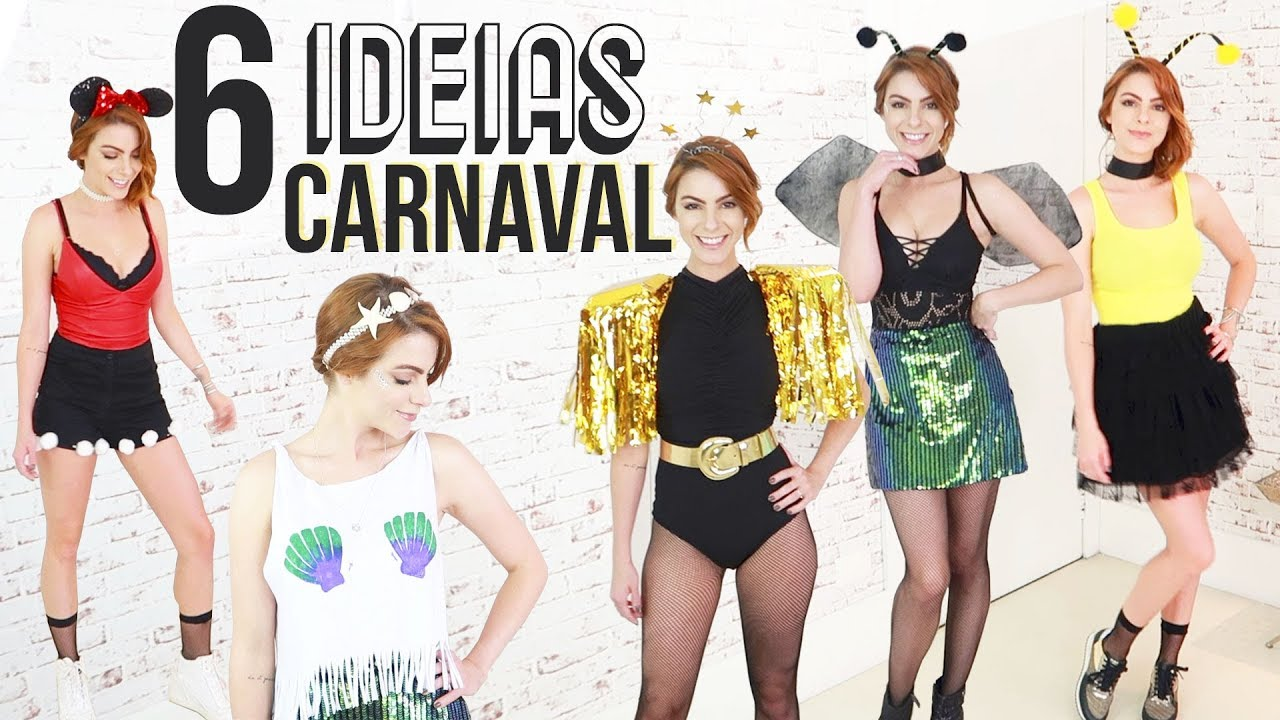 5c1749126 DIY Como fazer sua fantasia com o q vc tem em casa! o Carnaval - YouTube