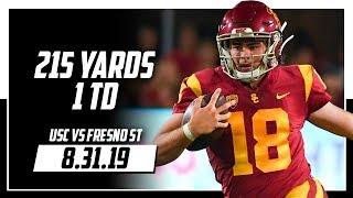 JT Daniels Full Highlights USC vs Fresno State | 215 Yards, 1 TD | 8.31.19