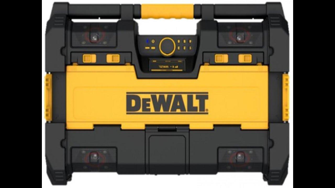 DEWALT DWST1-75663-GB Toughsystem Radio DAB Black by DEWALT with 6 Speakers//Bluetooth and USB