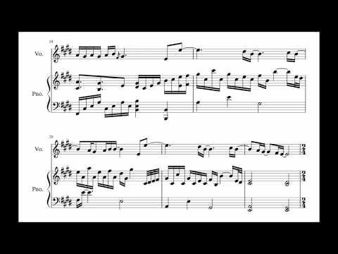 Pentagon(Jinho, Hui) 펜타곤(진호,후이) - 고마워 Thank You Piano music score