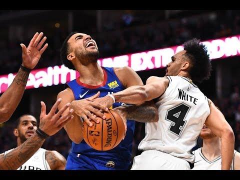 Денвер Наггетс против Сан-Антонио Сперс - Игра 4 - Основные моменты полной игры | Плей-офф НБА 2019