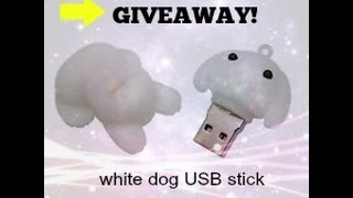 GIVEAWAY!! White dog USB stick!! Here are the rules to the giveaway...