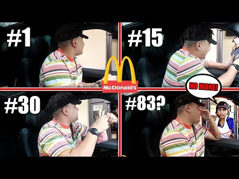 Driving Through The SAME McDonald's Drive Thru Until They REFUSE To Serve Me (100+ Times)