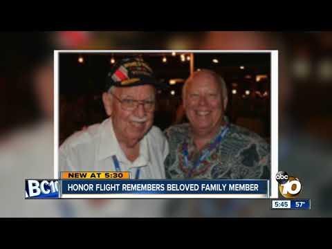 Honor Flight San Diego says goodbye to beloved family member