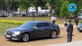 Arrival of Finance Minister Ken Ofori-Atta ahead of 2019 budget reading