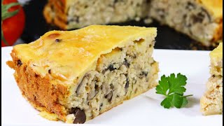Заливной пирог с курицей и грибами. Быстрый и простой рецепт пирога на кефире в духовке. Вкуснятина!