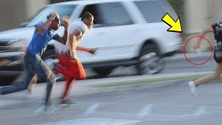 Stealing People's Shoes in the Hood Prank!