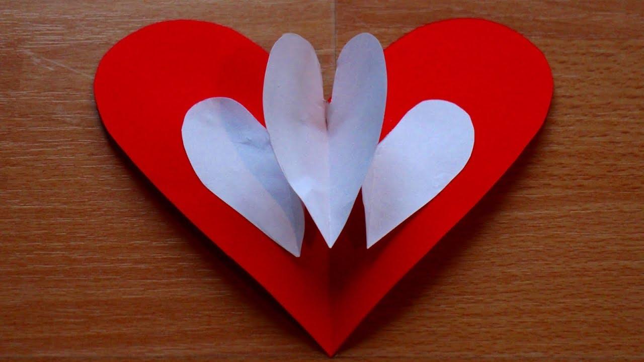 Basteln mit papier 39 herz pop up karte 39 f r valentintstag for Bastelideen fa r erwachsene papier